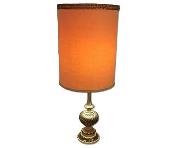 Vintage 1940's Brass Table Lamp