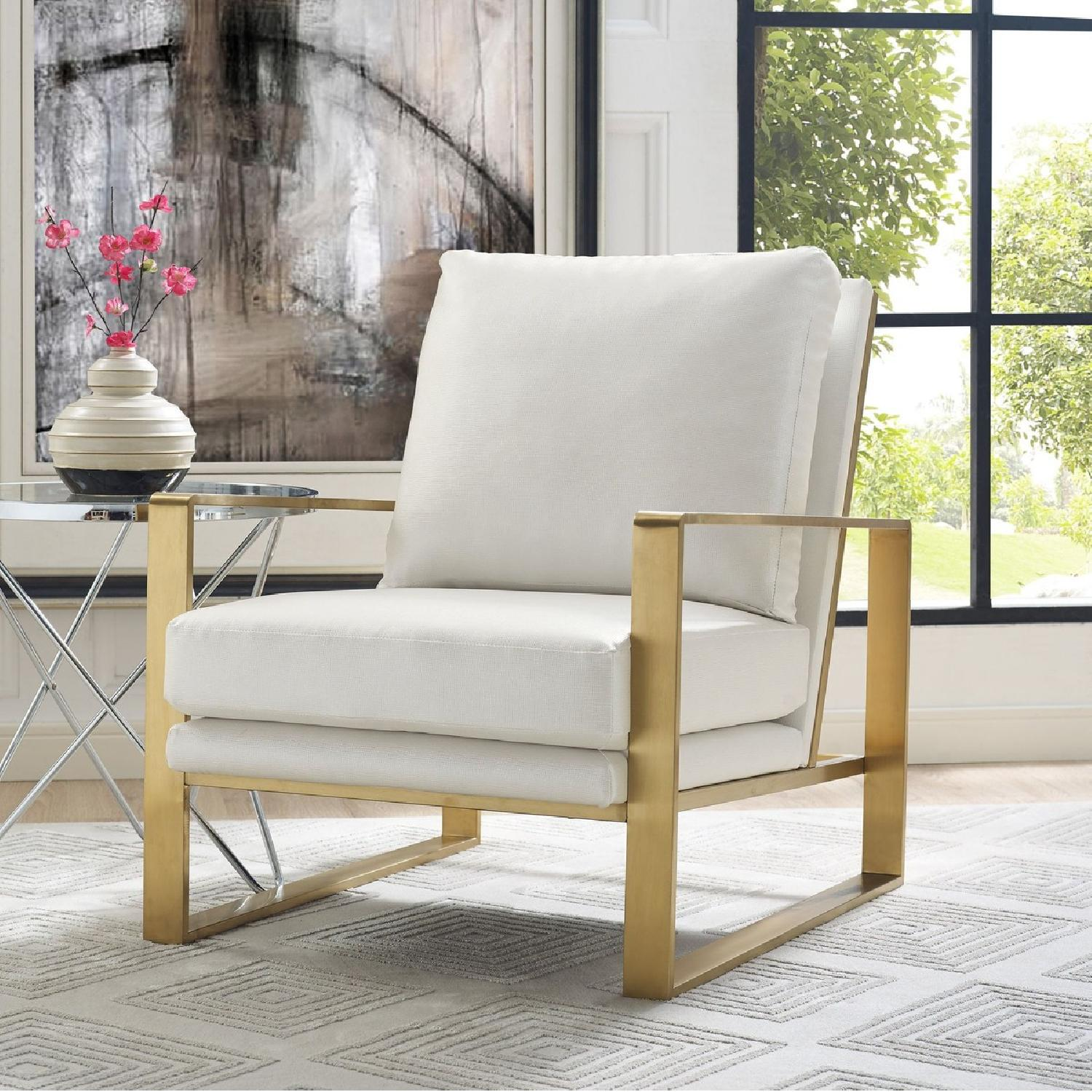 Tov Furniture Mott Textured Chair In Pearl Aptdeco