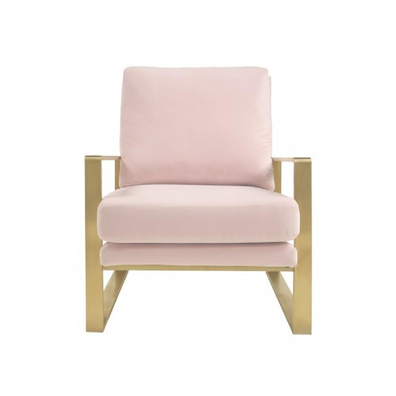 TOV Furniture Mott Blush Velvet Chair