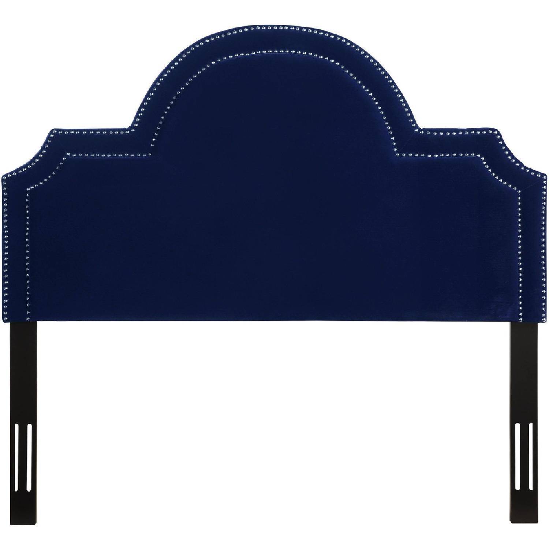 TOV Furniture Laylah Full Headboard in Pebbled Velvet