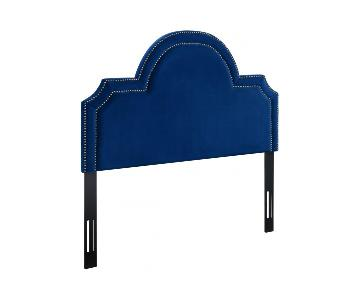 TOV Furniture Laylah King Headboard in Navy Velvet