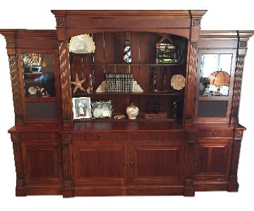 Ethan Allen Video Lift Entertainment Wall Unit