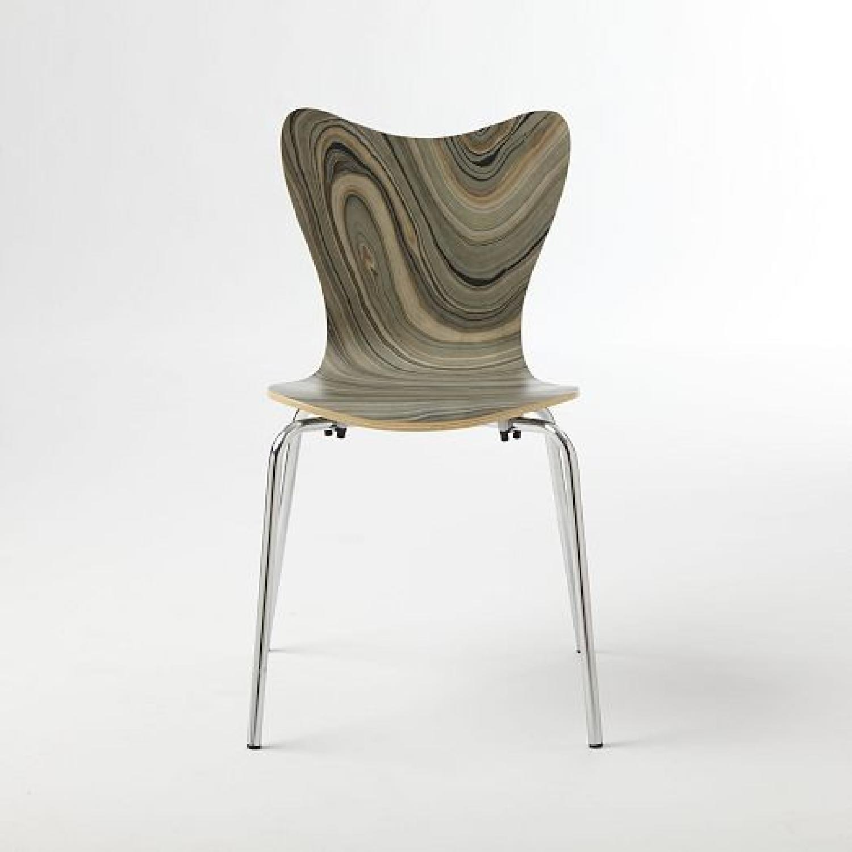 West Elm Scoop Back Marbelized Chair