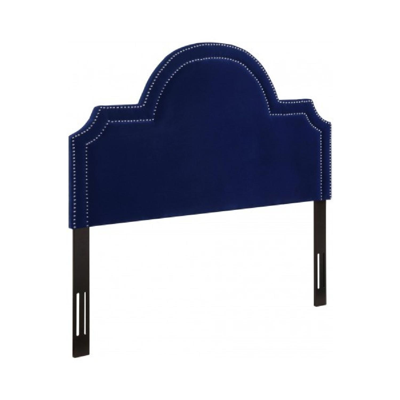 TOV Furniture Laylah Queen Headboard in Pebbled Velvet