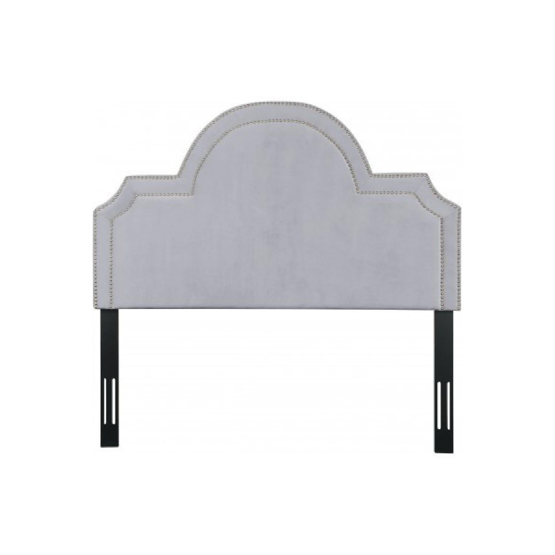 TOV Furniture Laylah Twin Headboard in Grey Velvet-1