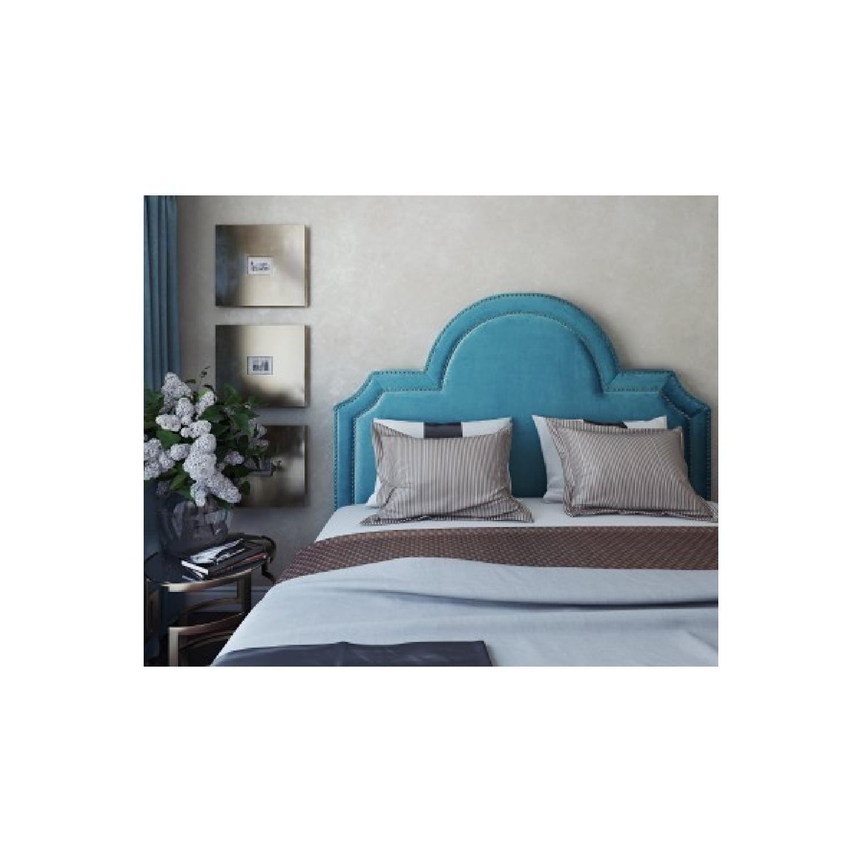 TOV Furniture Laylah Twin Headbaord in Sea Blue Velvet-0