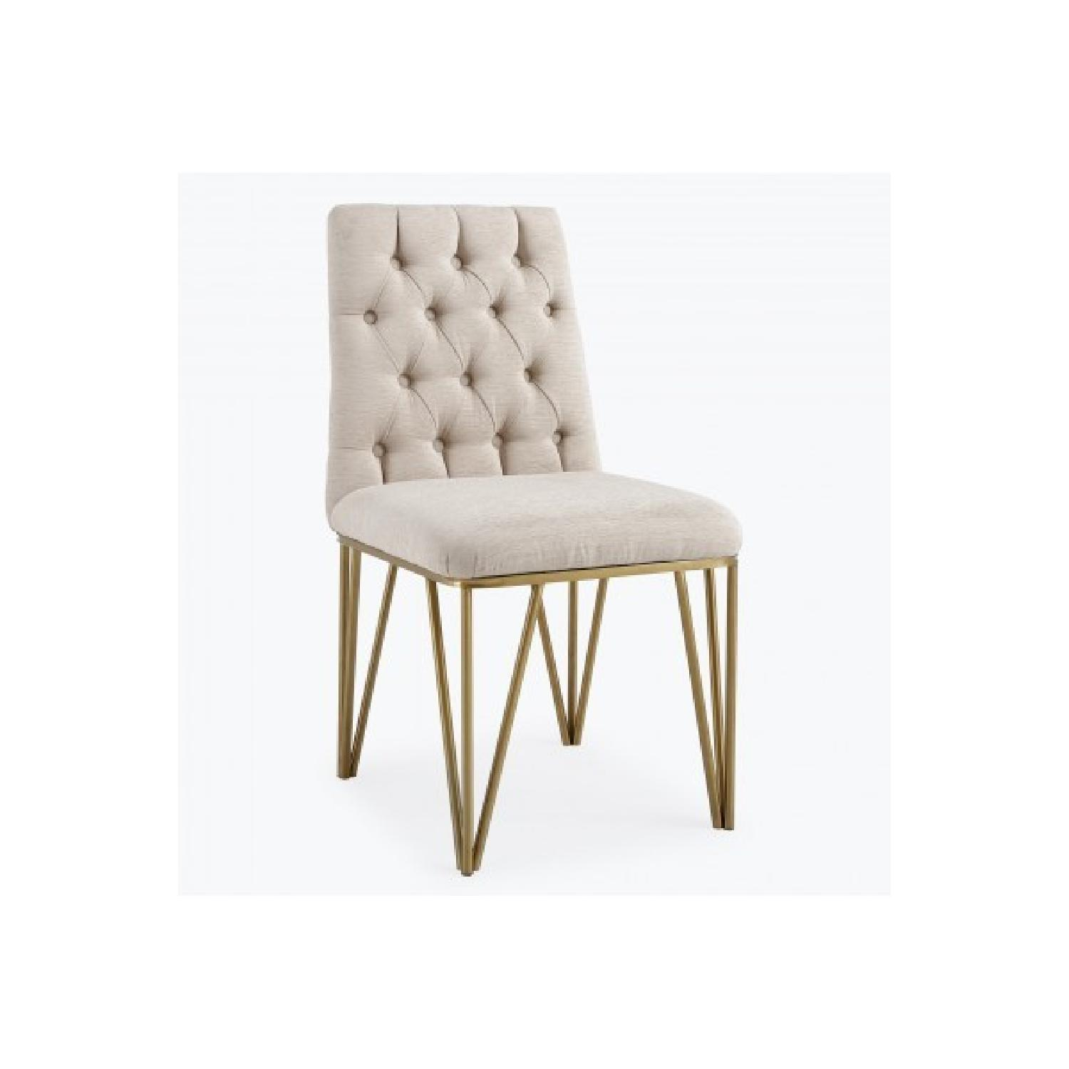TOV Furniture Lexi Cream Textured Velvet Dining Chair