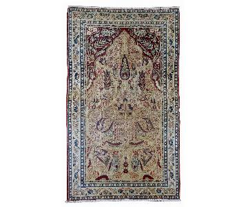 Antique 1880s Persian Kerman Lavar Rug