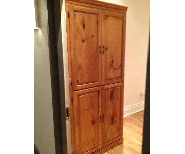 Custom Made Pine Wood Cabinet/Armoire
