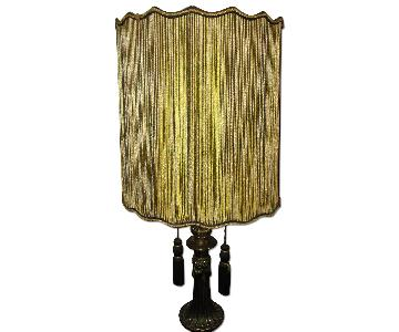Vintage 1970's Black & Gold Table Lamp