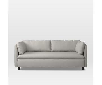 West Elm Shelter Sleeper Sofa in Yarn Dyed Linen Weave