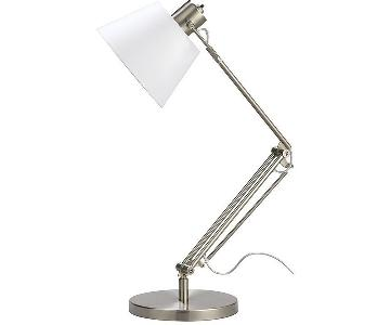 Crate & Barrel Slim Desk Lamp w/ White Shade
