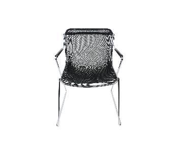 Charles Pollock Penelope Chair in Chrome & Steel