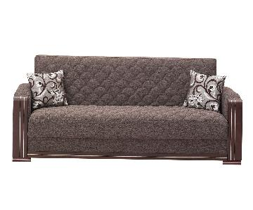 Oregon Contemporary Brown Fabric Sofa Bed