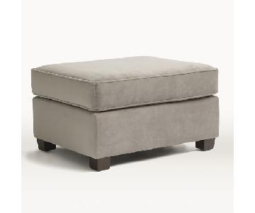 West Elm Henry Ottoman in Light Gray