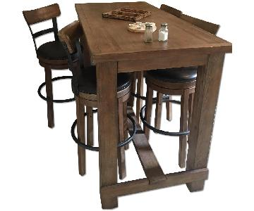 Wayfair Empire Dining Table w/ 4 Swivel Stools