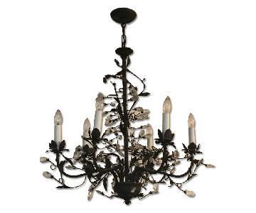 Vintage Bronze Metal 6-Light Chandelier