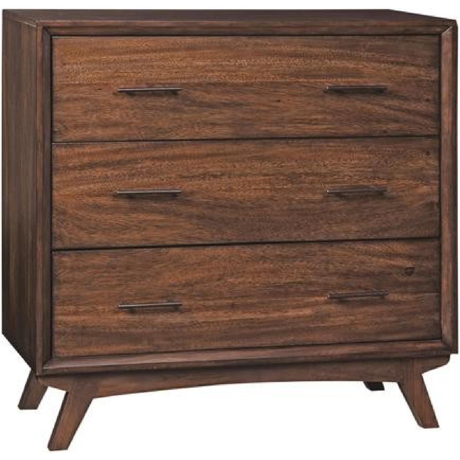 Warm Brown 3 Drawers Accent Cabinet