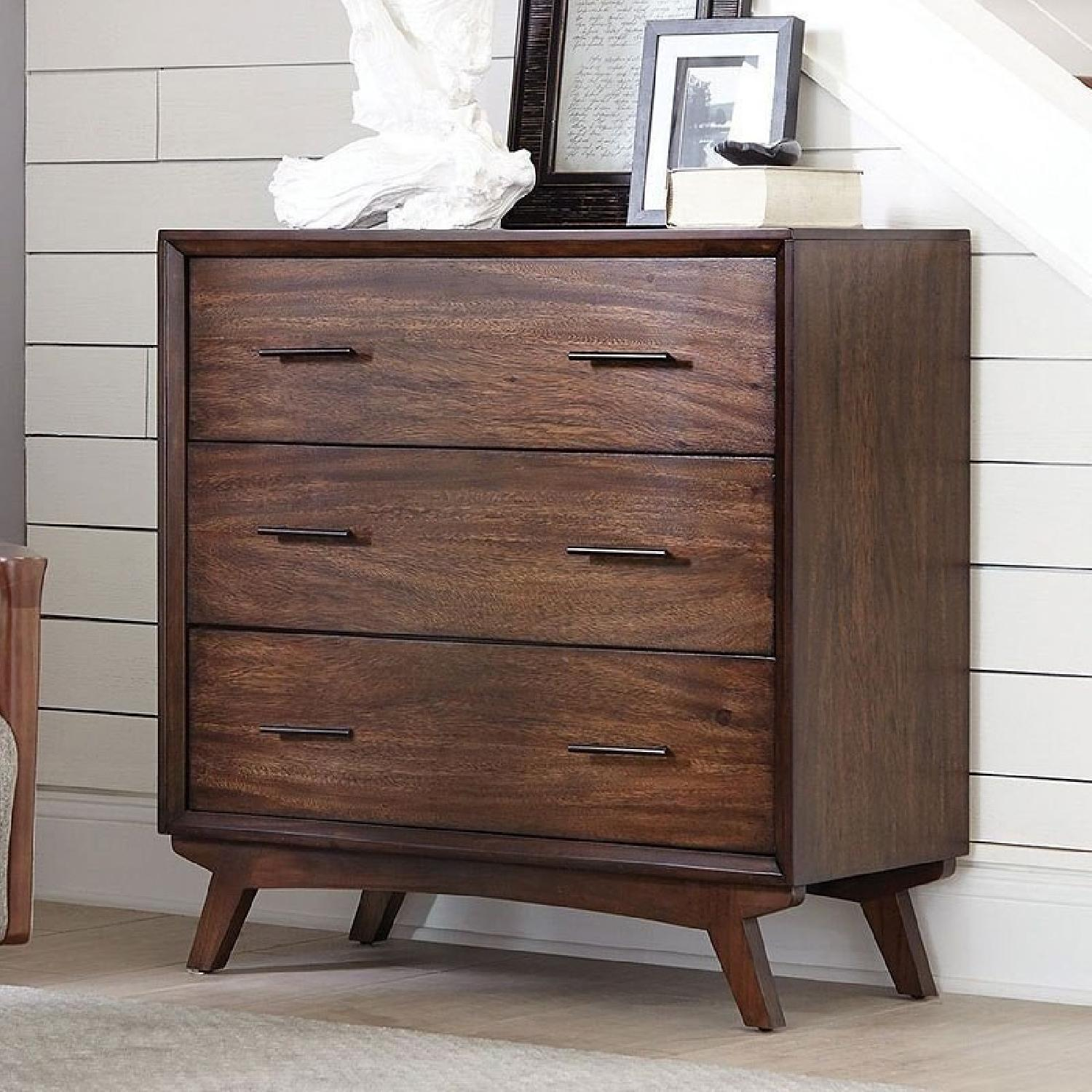 Warm Brown 3 Drawers Accent Cabinet-0