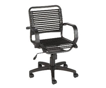 Container Store Black Bungee Office Chair