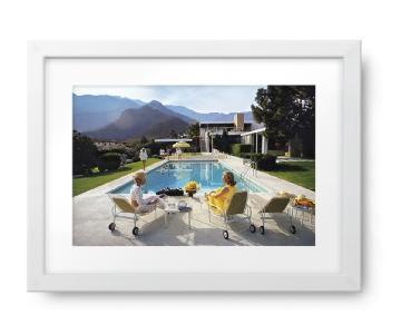 Framed Slim Aarons Print - Poolside Glamour