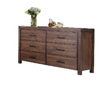 Coaster Dark Wood Modern 6 Drawer Dresser