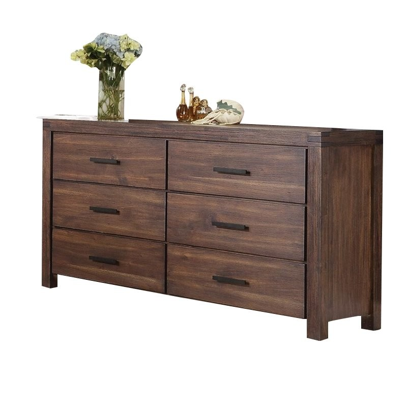 Coaster Dark Wood Modern 6 Drawer Dresser