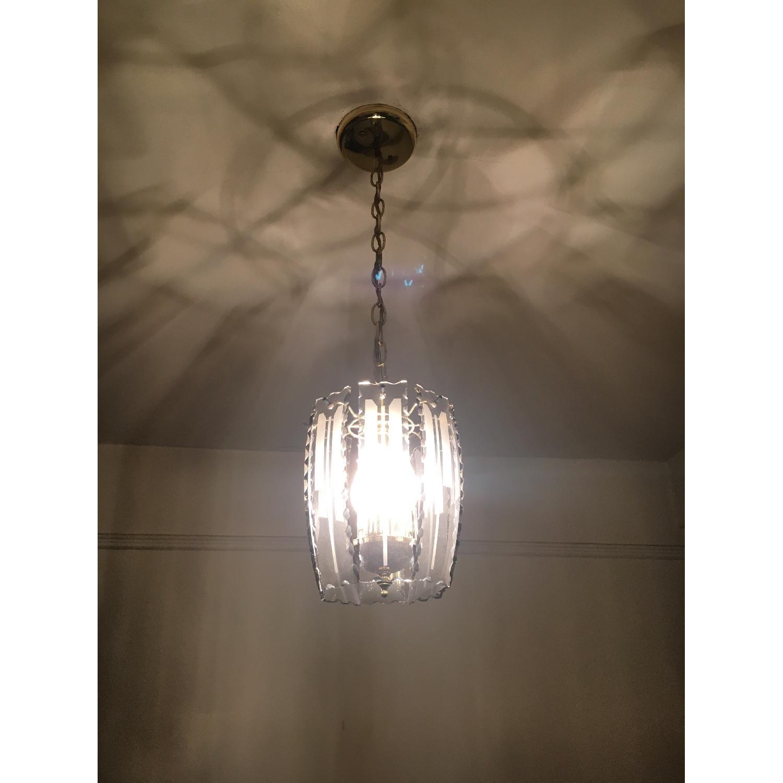 Brass entry chandelier w glass aptdeco brass entry chandelier w glass 0 arubaitofo Choice Image