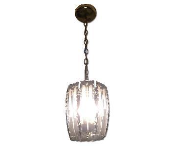 Brass Entry Chandelier w/ Glass