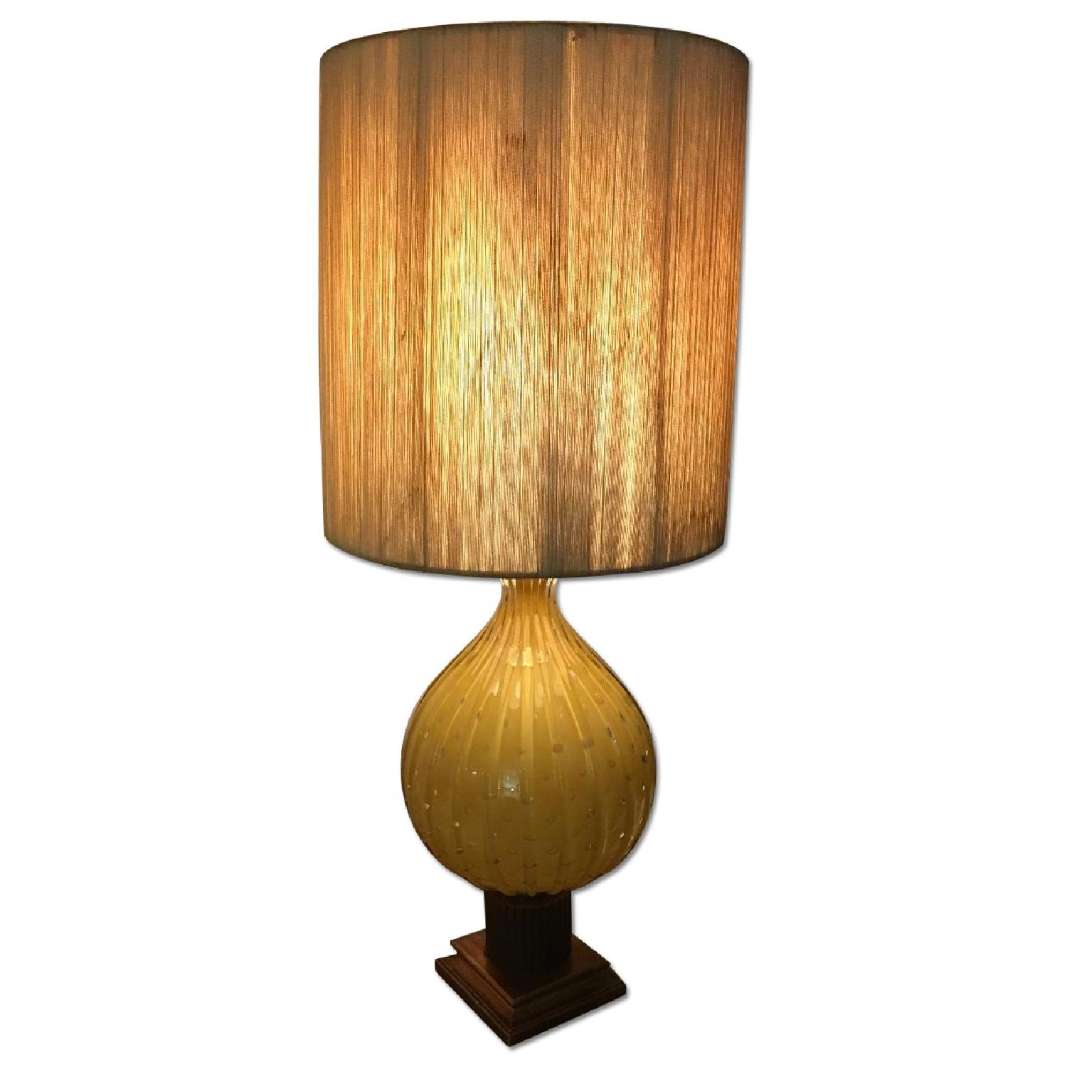 Blown glass table lamp aptdeco blown glass table lamp mozeypictures Gallery