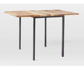 West Elm Box Frame Drop Leaf Expandable Table