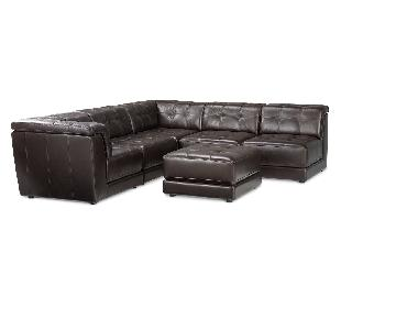 Macy's 6 Piece Leather Sectional Sofa