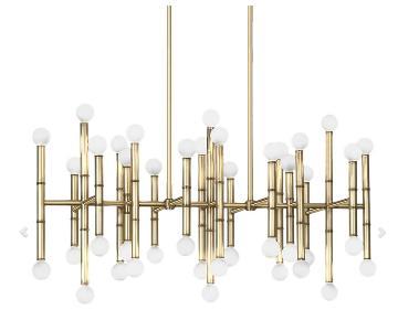 Jonathan Adler Meurice Rectangle Chandelier in Brass