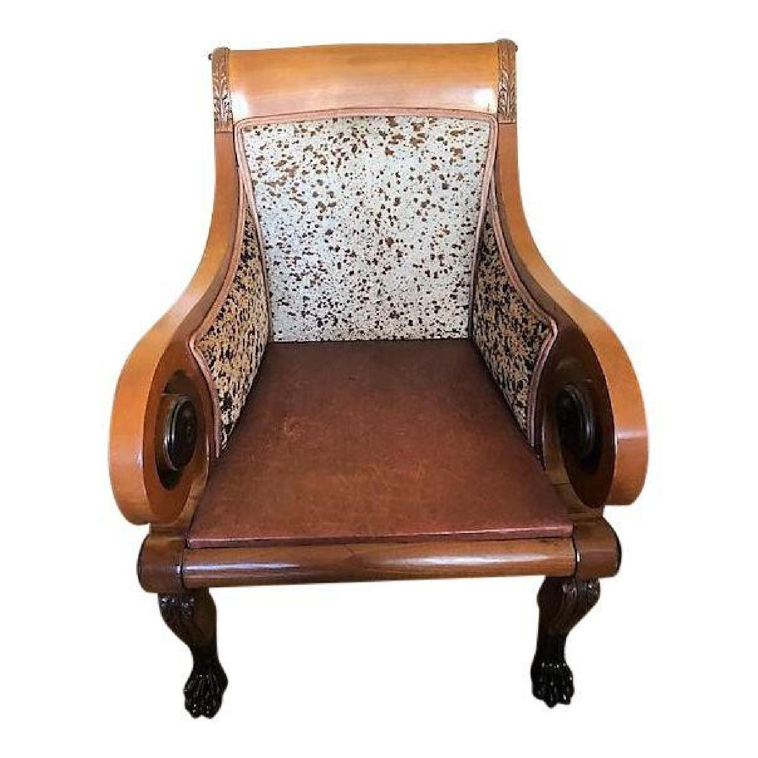Old Hickory Distressed Leather Chair ...