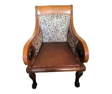 Old Hickory Distressed Leather Chair