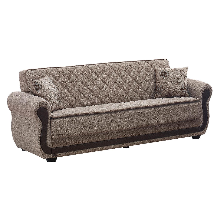 Newark Large Folding Sleeper Sofa in Light Brown