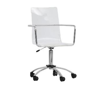 Pottery Barn Acrylic Swivel Chair