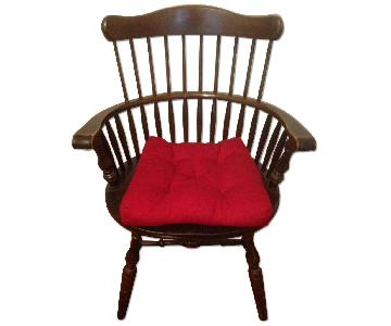 Modern Wooden Windsor Style Arm Chair