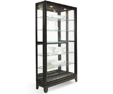 Macy's Drake Dual-Slide Contemporary Curio Cabinet
