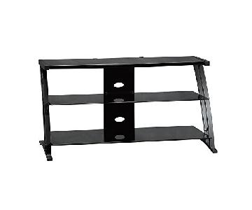 Sauder Deco Panel TV Stand in Black