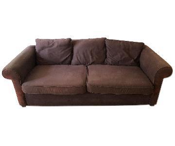 Brown Upholstered Sofa