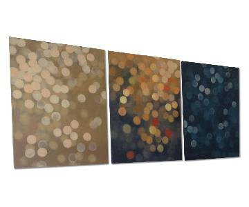 Tryptic Paintings - Blurred Lights