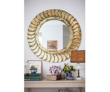 HomeGoods Round Metallic Mirror