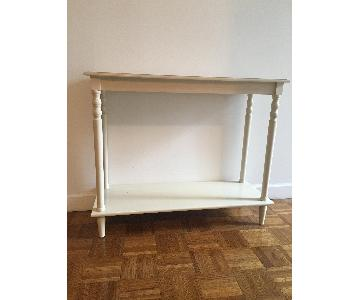 HomeGoods White Entryway Table