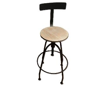 Nadeau Metal & Wood Bar Stool