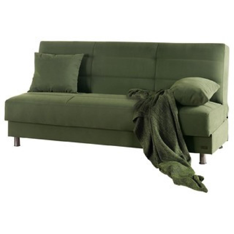 Contemporary Green Convertible Sofa Bed Aptdeco