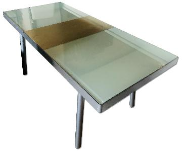 Tempered Glass Expandable Dining Table