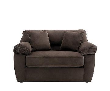 Raymour & Flanigan Rockport Microfiber Twin Sleeper Sofa