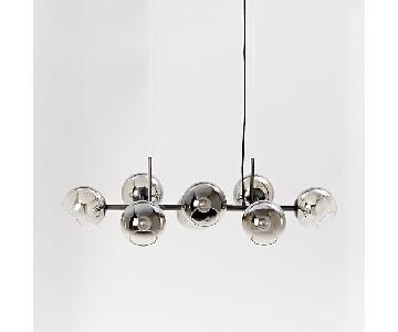 West Elm Glass Chandelier