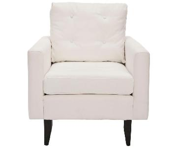 Safavieh Caleb White/Java Cotton Club Arm Chair